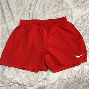 Red Athletic Nike shorts